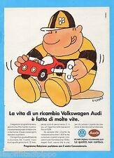 QUATTROR990-PUBBLICITA'/ADVERTISING-1990- VOLKSWAGEN AUDI - RICAMBI ORIGINALI
