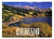 Colorado Postcard Mountain Lake Fall Color Rockies Trees Unposted