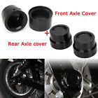 Black Front&Rear Axle Cover Cap Nut for Harley Dyna Softail Electra Street Glide
