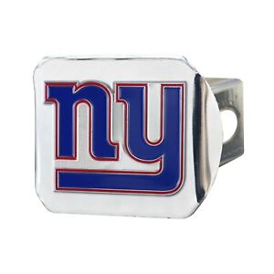 Fanmats NFL New York Giants Color on Chrome 3D Metal Hitch Cover Del. 2-4 Days