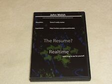 John Welsh The Resume is Realtime by JohnWelshTrades Trades DVD options trading