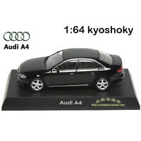 Black Kyosho 1:64 AUDI A4 Diecast Model Car Mint 1/64 2007 limited edition