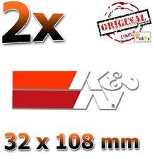 2x ORIG K&N Die Cut Weiß White 32x108mm Aufkleber Sticker Autocollant KN K und N
