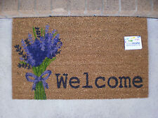 Lavender Welcome - Natural Coir PVC Backed Door Mat