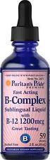 Vitamin B-Complex Sublingual Liquid with Vitamin B-12 Liquid 2 fl oz (59ml)