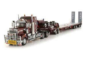"Kenworth T908 Truck w/ Drake Trailer - ""BURGUNDY"" - 1/50 - TWH #113-T09005B"
