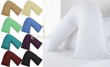 MATERNITY V SHAPED PILLOW AND COVER - ORTHOPAEDIC PREGNANCY NURSING BABY SUPPORT