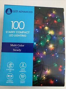 LED ADVANCED 16.5-ft 100 Multi Color LED String Lights