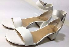New Look SNAIL White Ankle Strap Block Heel Sandals US 8 M, UK 6, EUR 39 NEW!!!!