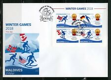 MALDIVES 2018 WINTER OLYMPIC GAMES  PYEONGCHANG  SHEET FIRST DAY COVER