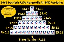US 5061 Patriotic USA Nonprofit 5c PNC1 PNC3 PNC5 PNC7 PNC9 PNC11 P111 MNH 2016