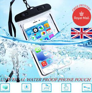 Universal Underwater Phone Case Waterproof Dry Bags Pouch Smartphones swim UK