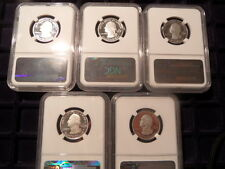 2014S US Silver Ultra Cameo Proof Five Coin Set- All NGC Cert PF69 UCAM!!!