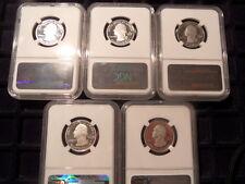 2014s noi Argento Ultra Cameo prova cinque MEDAGLIA Set-tutte NGC CERT pf69 Ucam!!!