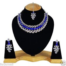 Bollywood Indian Silver Plated Handmade Ethnic Party Wear Designer Necklace Set