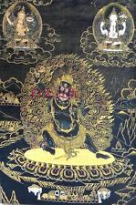 Tibetan Buddhist / Nepal / gold brocade / Thangka painting / Vajrapani / Mahakal