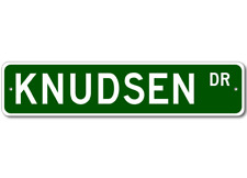 KNUDSEN Street Sign - Personalized Last Name Sign