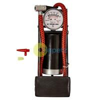 Amtech Foot Pump With Gauge Car Bike Tyre Airbeds Bicycle