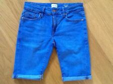 Cotton Blend Patternless Denim Regular Size Shorts for Men