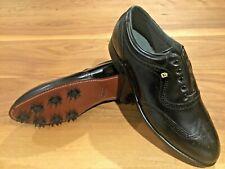 *Vintage Footjoy Classics mens 10.5C black leather golf shoes NEW