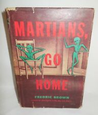 1955 Martians Go Home Book HBDJ Early Book Club Edition by Fredric Brown