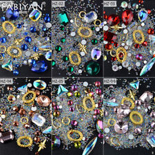 Nail Art Decoration Rhinestone Crystal Gem Accessories Tips Metal Acrylic UV Gel