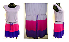 MATTY M DRAWSTRING DRESS: LAVENDAR / FUSCHIA / PURPLE UK SIZE 6/8 (X-SMALL) bnwt