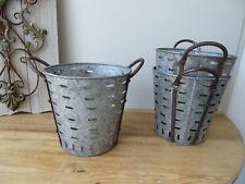 OB001 Kleiner Oliveneimer ~ Eisenkorb ~ Olivenkorb ~ olive bucket ~ Zinkwanne