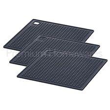 3 x IKEA HÄNGSYREN (Hangsyren) Grey Silicone Rubber Heat Resistant Mats/Trivets