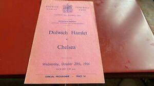 DULWICH HAMLET V CHELSEA----FRIENDLY FOOTBALL PROGRAMME--28TH OCTOBER 1964