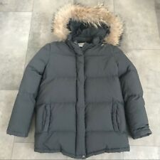 RARE WARM women's Paul & Joe Sister hunter green puffer coat with hood! Medium