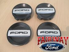 15 thru 17 F-150 OEM Genuine Ford Wheel Rim Black Center Caps RAPTOR  4-pc Set
