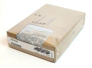 Ikea KIVIK Ottoman Footstool w/ Storage Tallmyra Black White 604.827.22 New