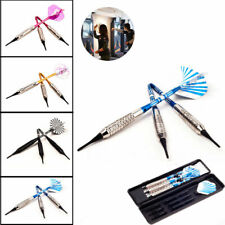 3PCS Soft Tip Darts + Case + Extra 3 Shafts Indoor Activities Games Electronic