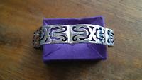 Taxco Mexico AVA Sterling Silver Link Panels Bracelet ~ 60 Grams