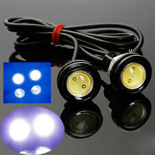 2X 12V Auto Motorrad 10W LED Eagle Eye Tagfahrlicht-DRL-Endstück Licht Lampe NEU