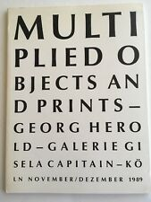 GEORG HEROLD MULTIPLIED OBJECTS AND PRINTS 1989 PAPERBACK