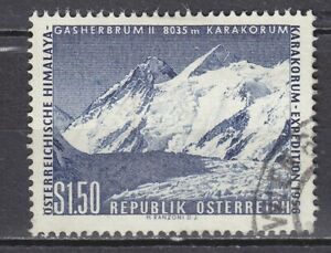 AUSTRIA used 1957 SC# Nr 618 Austrian Karakorum Expedition