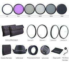 67MM Lens Filter Kit - Macro Close Up Set & UV CPL FLD w/ Pouch for Nikon Canon