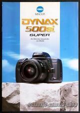 Kamera Reklame Prospekt MINOLTA DYNAX 500 si 500si SUPER Broschüre Werbung X2711