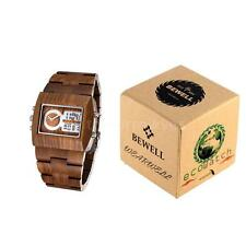 Wooden Strap Adult Wristwatches with Chronograph