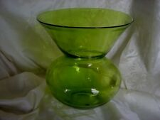 Large Hand Blown Peridot Glass Spitoon  Chartreuse?