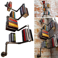 Industrial Iron Urban Style Steel Black Pipe Shelf Book Storage Shelf Home