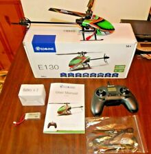 Eachine E130 2.4G 4CH 6-Axis Gyro Flybarless RC Helicopter RTF 3 Batteries USA