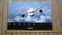 BOEING AVIATION AIRCRAFT Co OLD LARGE PROMOTIONAL POSTER, THE 777 AEROPLANE
