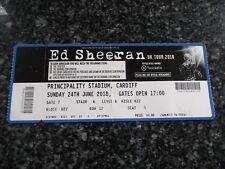 ED SHEERAN 1 used tickets ,24th JUNE 2018,PRINCIPALITY STADIUM,CARDIFF,(13)