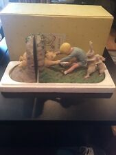 DISNEY WINNIE THE POOH BOOKENDS WEDGED BEAR COLLECTION MICHEL & CO Vintage
