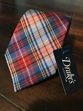Drakes London Tie NWT $165 Mint 100% Silk Handmade in England