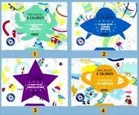 Lot de 4 Grands posters à colorier OMY - Happy Meal Mc Donald Mc Do - 2019 #1