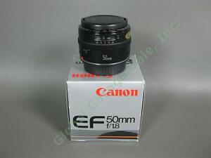 Canon EF 50mm f/1.8 Camera Lens MF AF Manual Auto Focus Original Box Excellent